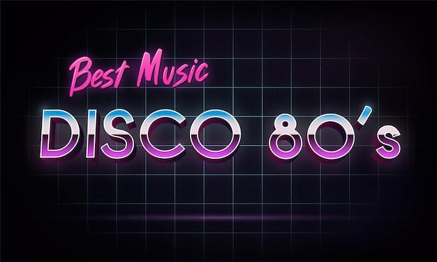 ディスコ80年代最高の音楽 - バナー。