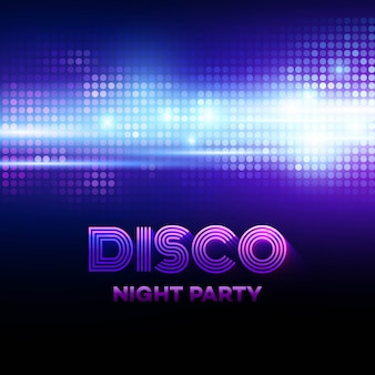 Disco background with discoball. vector illustration