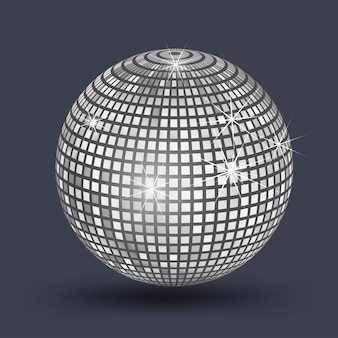 Disco ball, mirror ball silver