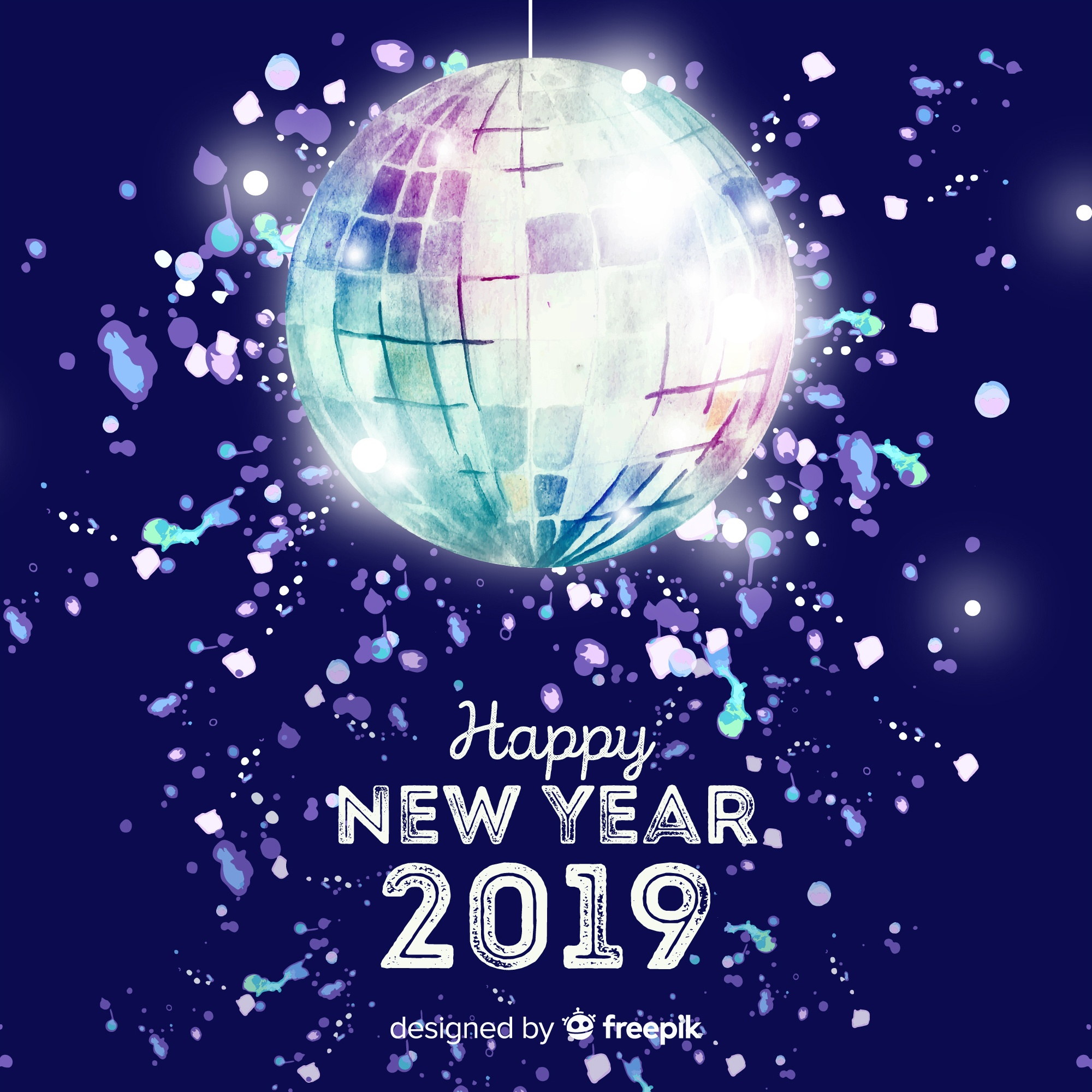 Disco ball new year party background