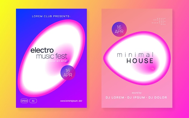 Disco event. bright effect for presentation. elegant pattern for cover vector. linear techno poster. club and discotheque shape. pink and white disco event