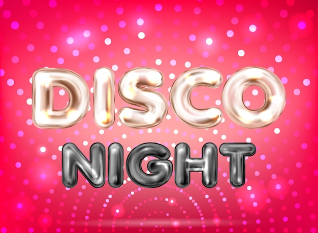 Disco night red banner