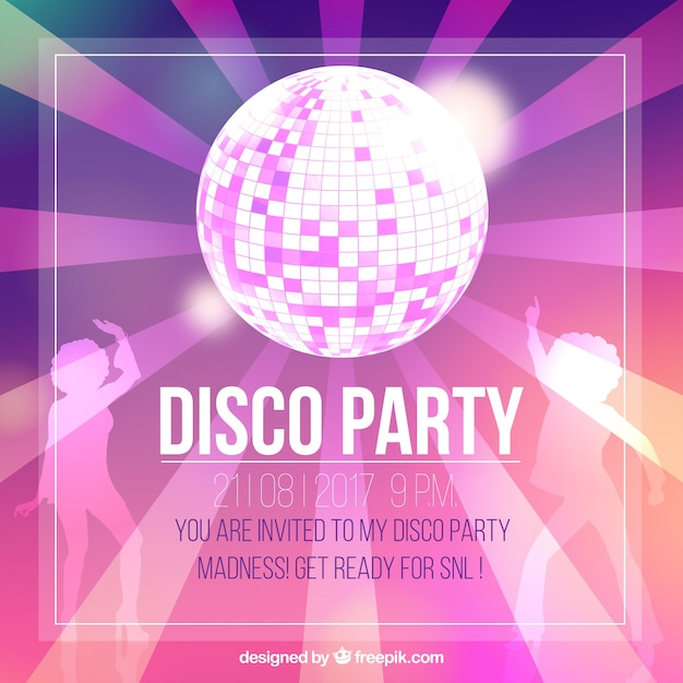 Disco Party Invitation Vectors Photos and PSD files Free Download