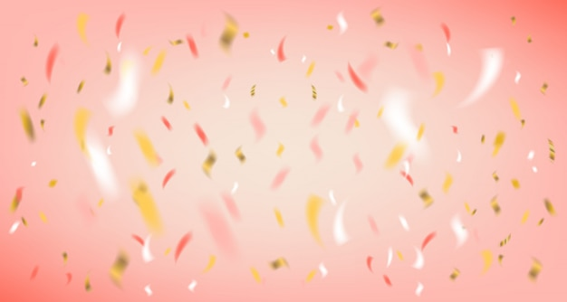 Disco party pink background with foil confetti