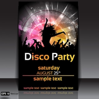 Disco party poster design