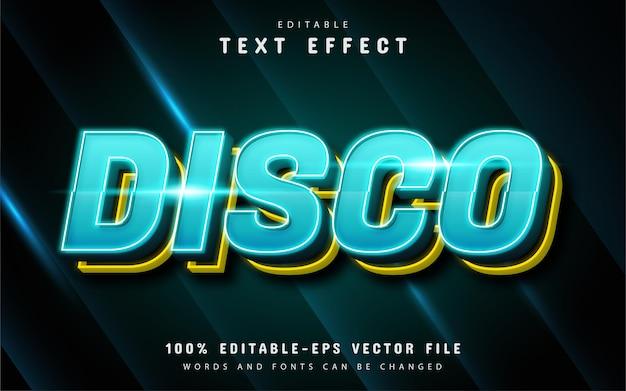 Disco text, editable 3d text effect
