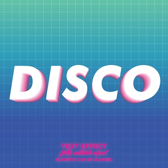 Disco text effect with layered shadow