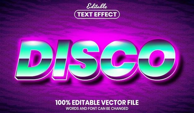 Диско-текст, редактируемый текстовый эффект в стиле шрифта