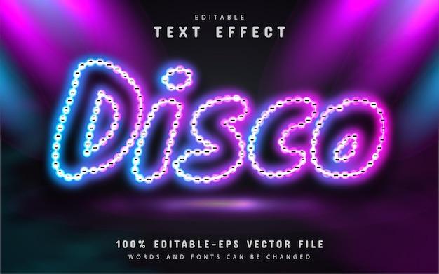 Disco text, neon text effect
