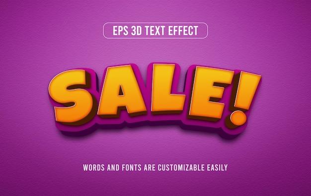 Discounr 판매 편집 가능한 3d 텍스트 효과 스타일