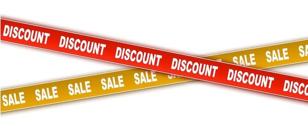 Скидка и продажа набор векторных лент ленты red discount ленты осторожно лента с большой распродажей