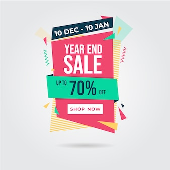 Discount banner abstract design style