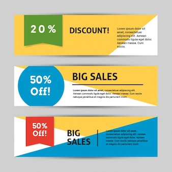 Discount banner template colorful
