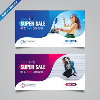 Discount banner template