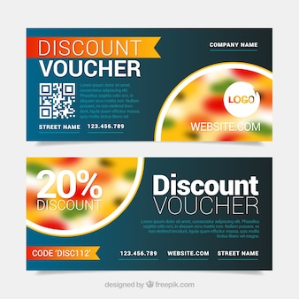 Discount banners of pizzeria