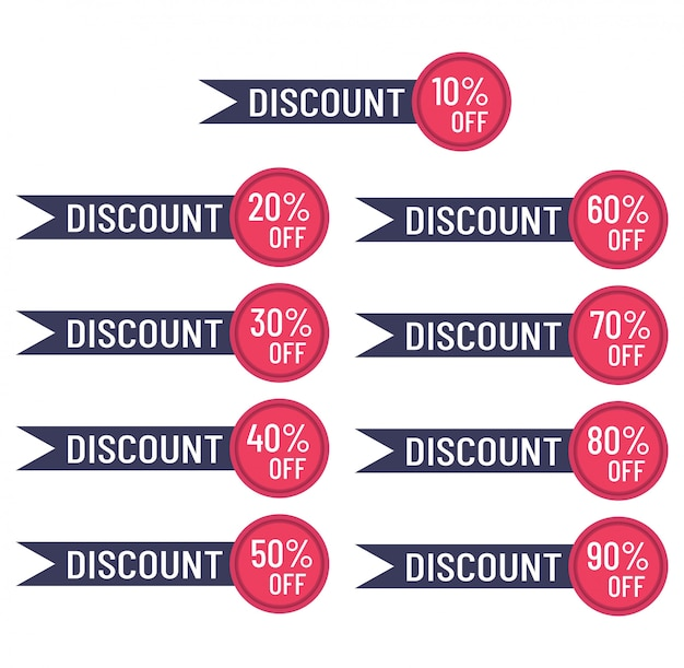 Discount banners template