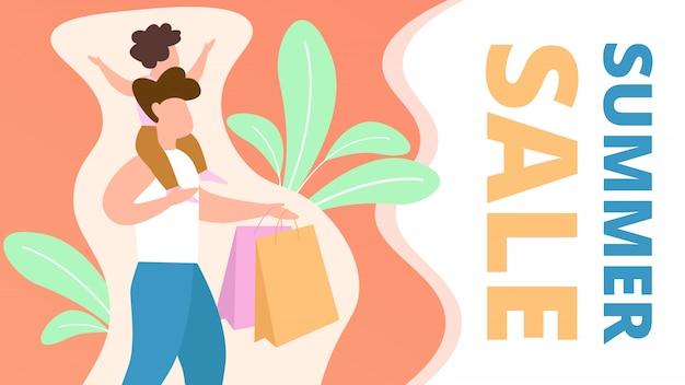 Discount coupon is written summer sale cartoon