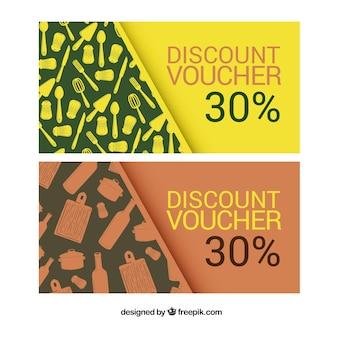 Discount coupons restaurant set