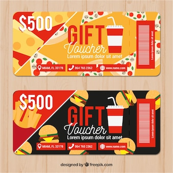 Discount coupons in restaurant