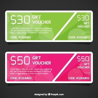 Discount gift voucher template