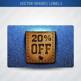 Discount jean label
