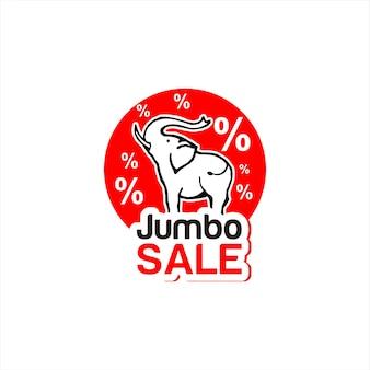 할인 레이블 현대 빨간색 점보 판매
