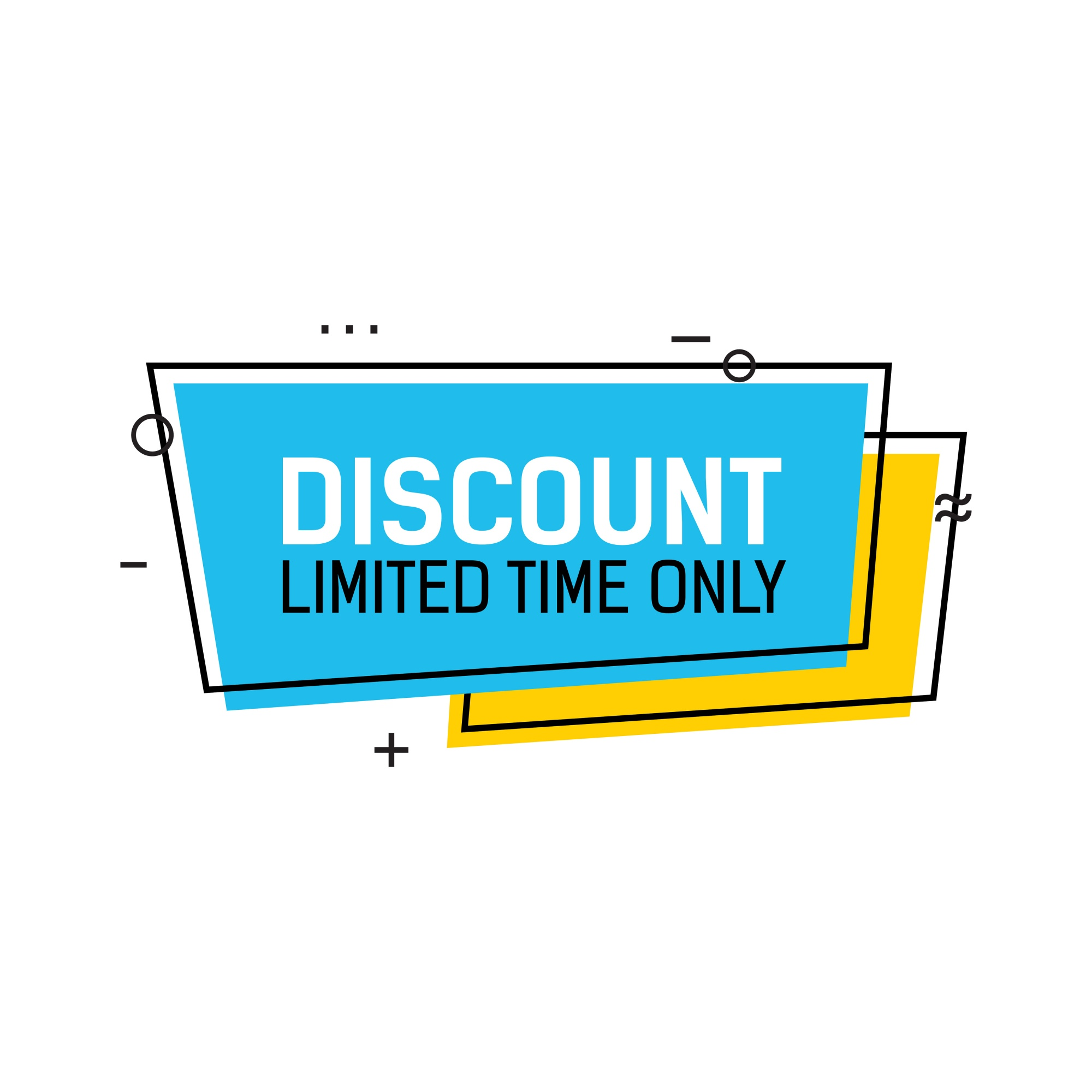Discount Limited Time Lettering