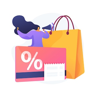 Discount and loyalty card abstract concept illustration