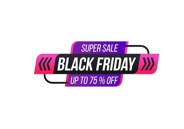 Discount and offer on black friday autumn holiday cyber monday sale discounts label tag