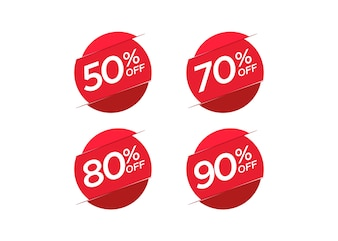 Discount offer price label set