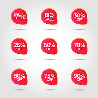Discount offer price label