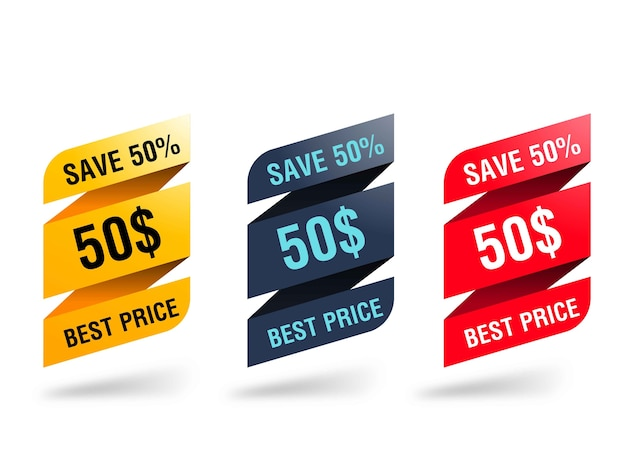 Discount origami banner collection