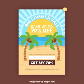 Discount pop up with flat design