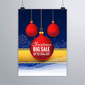 Discount poster with christmas balls