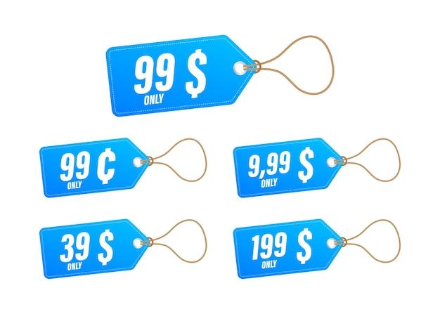 Ценник со скидкой. шаблон только с 99