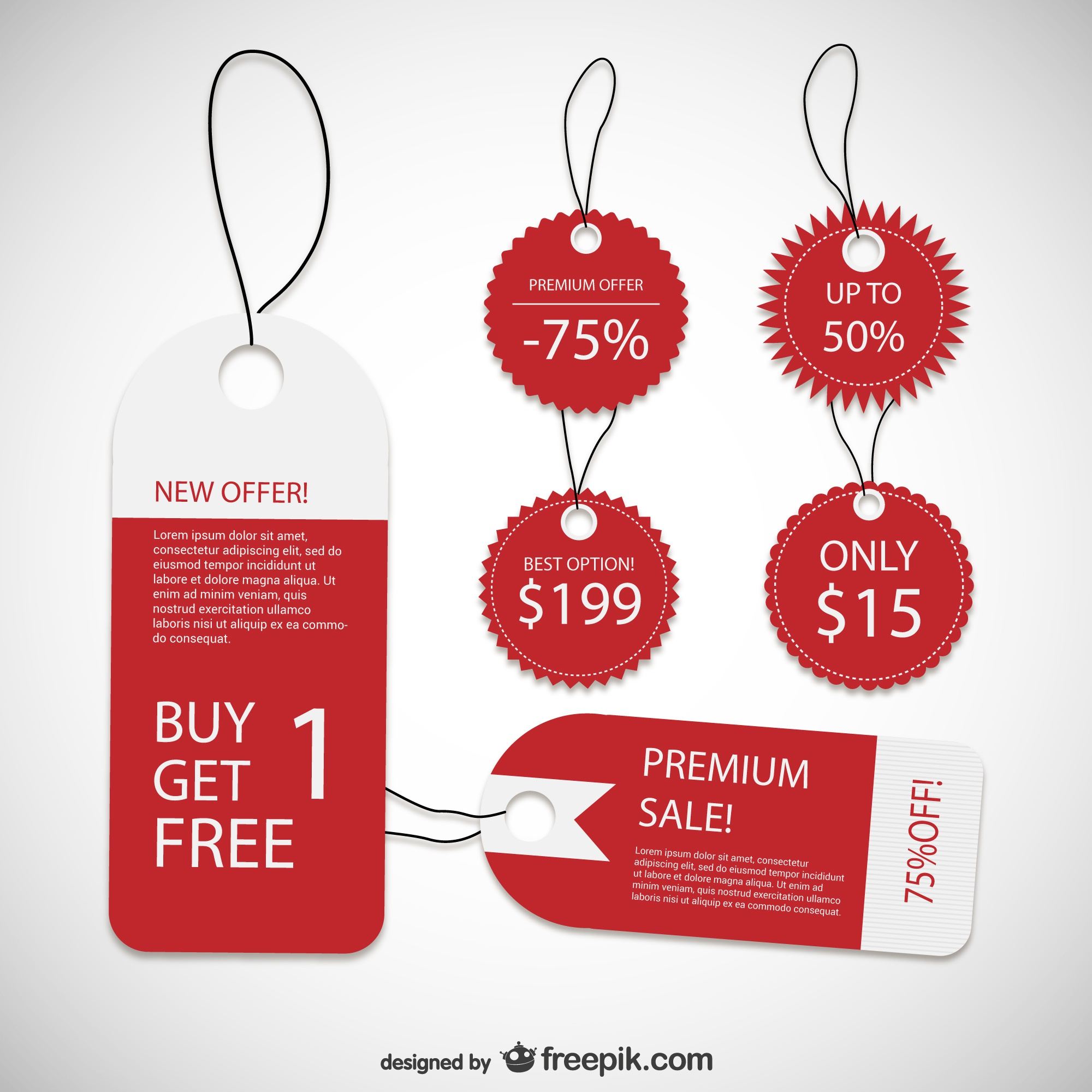 Discount product labels
