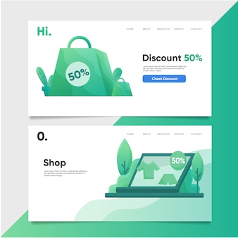 Discount promo landing page template
