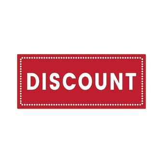 Discount promotion tag badge vector