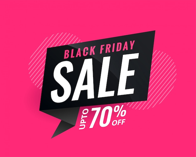 Discount sale banner for black friday