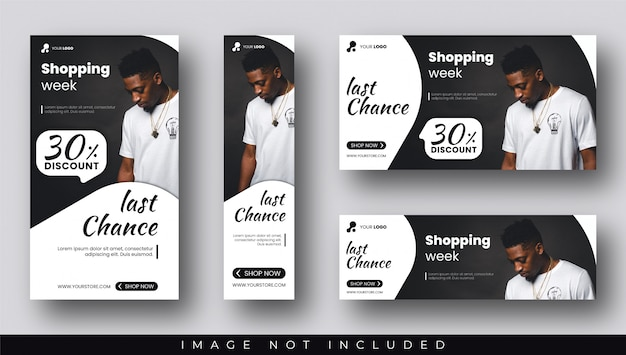 Discount sale banners and storie templates