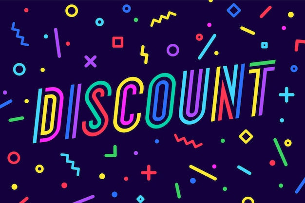 Discount, sale illustration