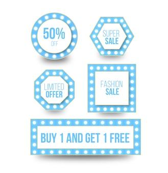 Discount sale light buttons design