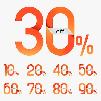Discount sale tags vector
