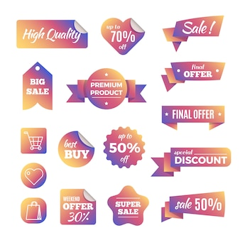 Discount shopping banners