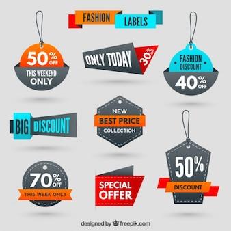 Discount shopping tags Premium Vector