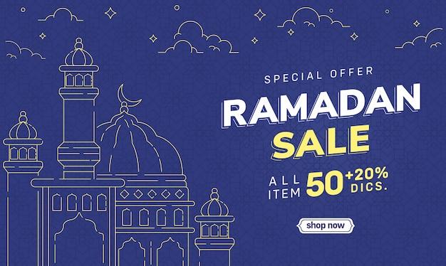 Discount social media ramadan banner sale special offer