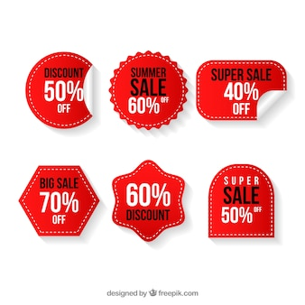 Discount sticker collection of six