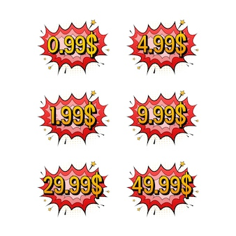 Discount sticker. template with 99 only. vector template design. sale, price tag. sale banner badge. special offer price sign. vector stock illustration