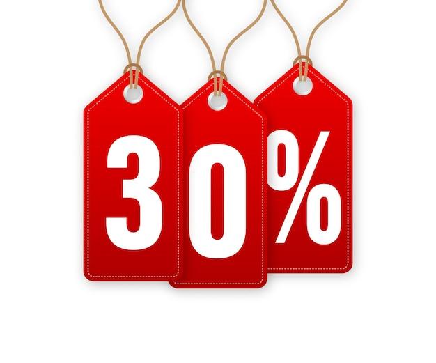 Скидка -30%. распродажа вешалок. векторная иллюстрация.