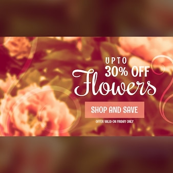 Discount voucher with flowers